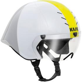 Kask Mistral - Casque de vélo - jaune/blanc
